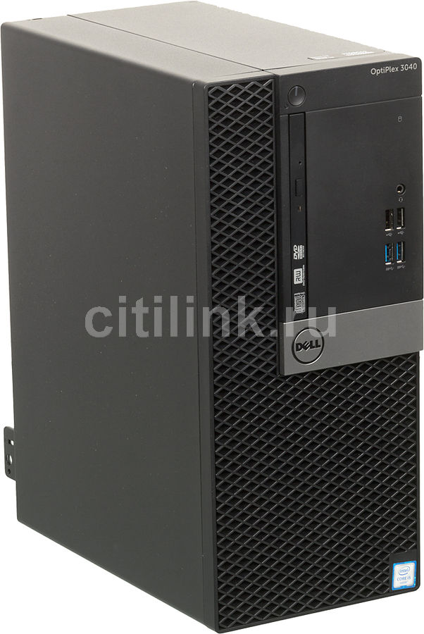 Компьютер  DELL Optiplex 3040,  Intel  Core i5  6500,  DDR3L 4Гб, 500Гб,  Intel HD Graphics 530,  DVD-RW,  Windows 7 Professional,  черный и серебристый [3040-2402]