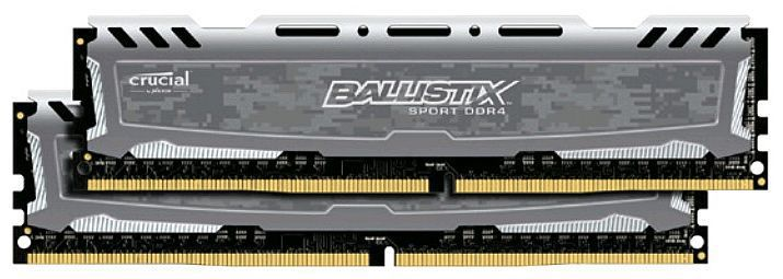 Модуль памяти CRUCIAL Ballistix Sport LT BLS2C16G4D240FSB DDR4 -  2x 16Гб 2400, DIMM,  Ret
