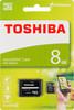 Карта памяти microSDHC TOSHIBA M102 8 ГБ, 15 МБ/с, Class 4, SDU8GSDHC4M102M2TR,  1 шт., переходник SD вид 1