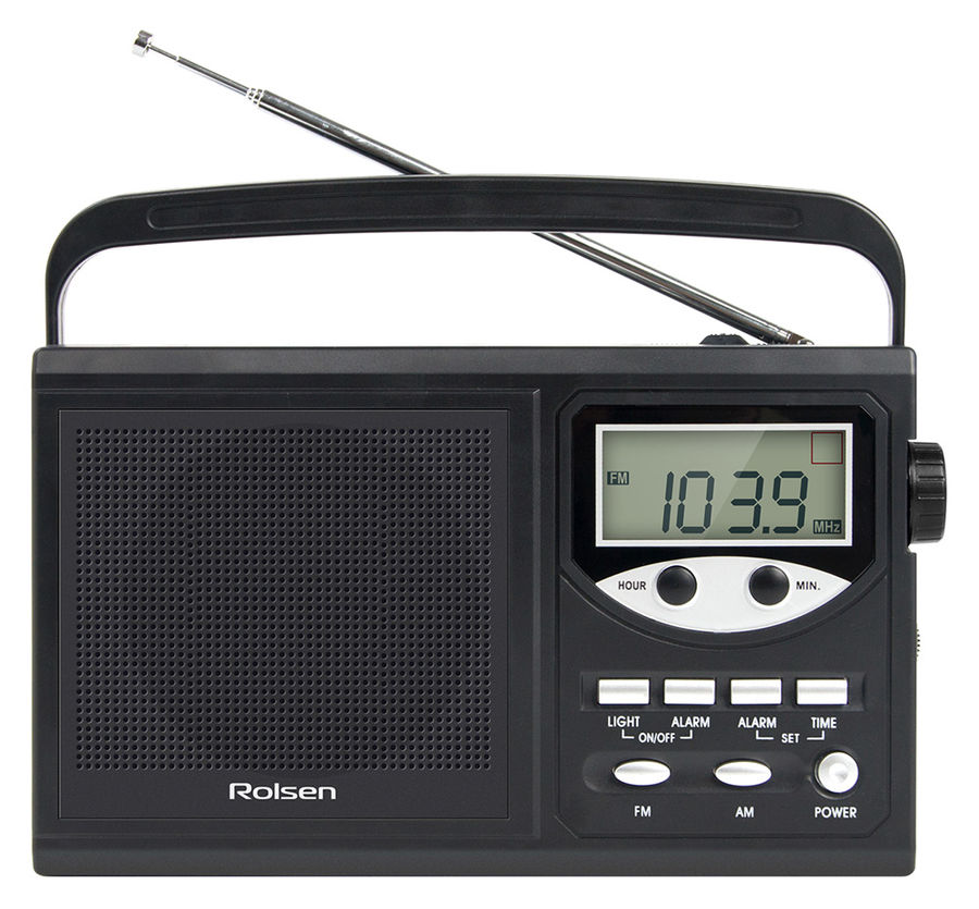 Радиобудильник ROLSEN RBM-216, черный
