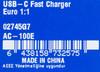 Сетевое зарядное устройство NOKIA AC-100 USB-C,  USB type-C,  3A,  черный вид 5