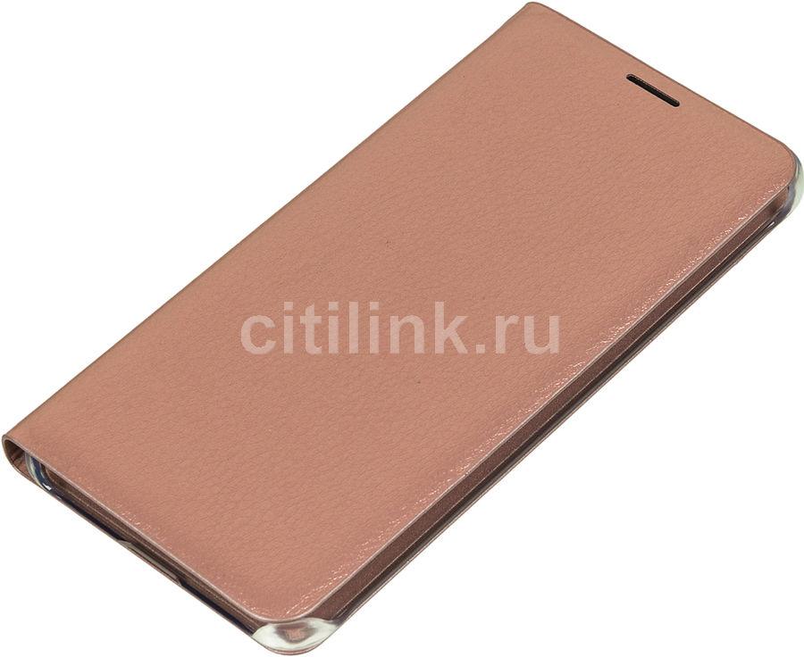 Чехол (клип-кейс) SAMSUNG Flip Wallet, для Samsung Galaxy A7 (2016), розовое золото [ef-wa710pzegru]