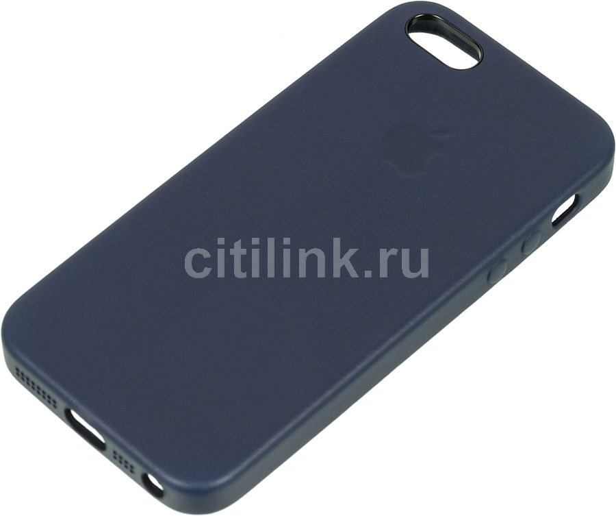 Чехол (клип-кейс) APPLE MMHG2ZM/A, для Apple iPhone 5/5s/SE, темно-синий apple чехол клип кейс apple для apple iphone 7 mmy52zm a черный