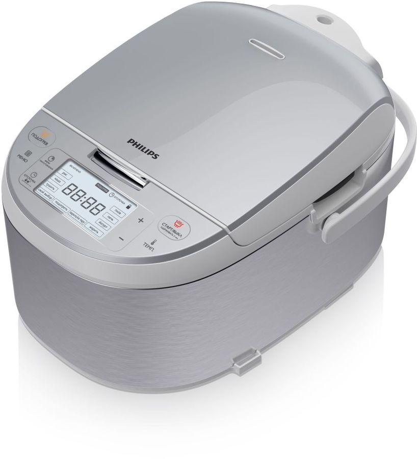 Мультиварка PHILIPS HD3095/03,  860Вт,   серебристый/серый