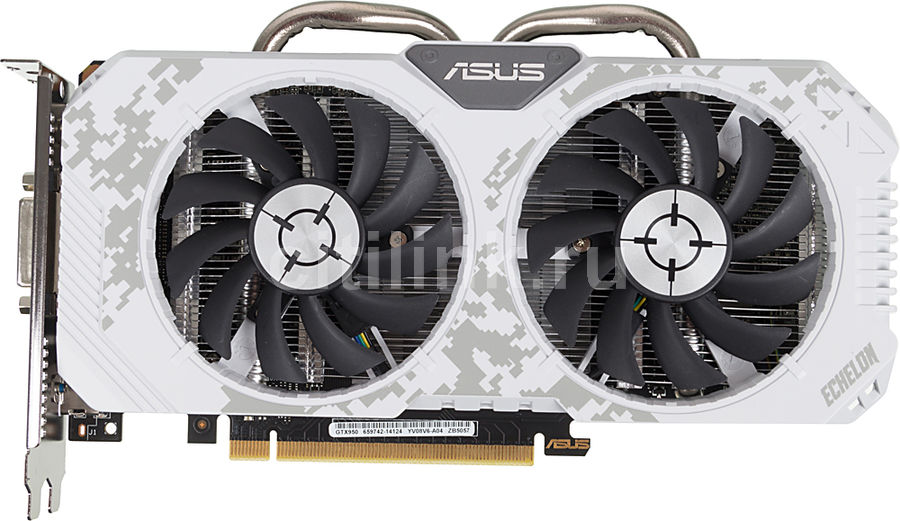 Видеокарта ASUS GeForce GTX 950,  ECHELON-GTX950-O2G,  2Гб, GDDR5, Ret