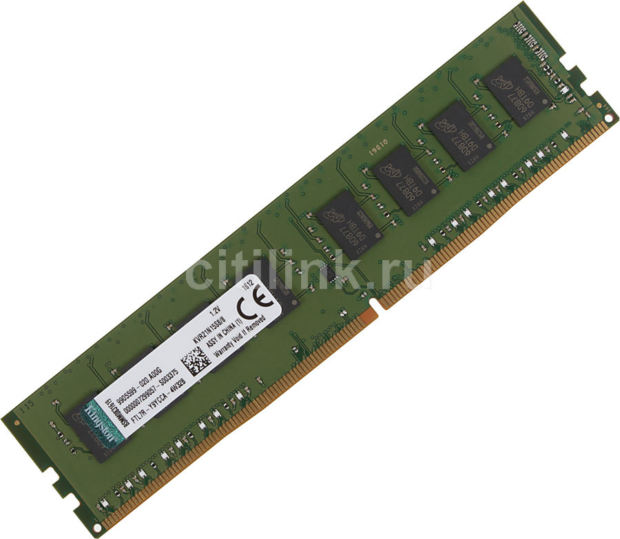 Модуль памяти KINGSTON VALUERAM KVR21N15S8/8 DDR4 -  8Гб 2133, DIMM,  Ret