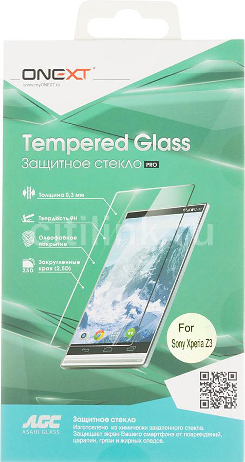 Защитное стекло ONEXT для Sony Xperia Z3,  1 шт [40816]