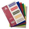 Разделитель индексный Бюрократ ID114 A4 пластик 5 индексов цветные разделы вид 2