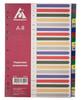 Разделитель индексный Бюрократ ID120 A4 пластик А-Я цветные разделы вид 1