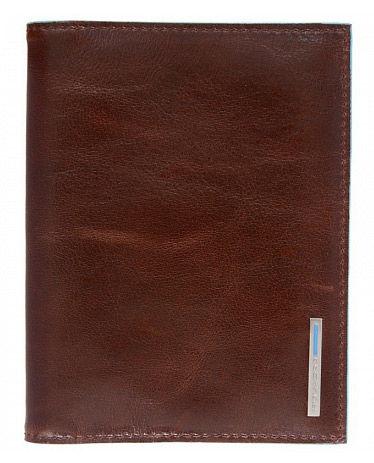 Обложка для паспорта Piquadro Blue Square PP1660B2/MO коричневый натур.кожа