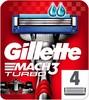 Сменные кассеты для бритья GILLETTE Mach3 Turbo, 4 шт. [81539402] вид 1