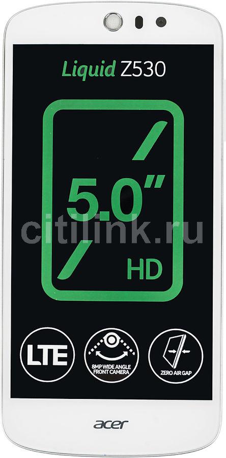 """Смартфон Acer Z530 Liquid 8Gb белый моноблок 3G 4G 2Sim 5"""" 720x1280 And5.1 8Mpix W (отремонтированный)"""