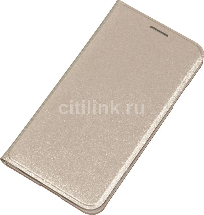 Чехол (флип-кейс) SAMSUNG Flip Cover, для Samsung Galaxy J1 mini, золотистый [ef-fj105pfegru]