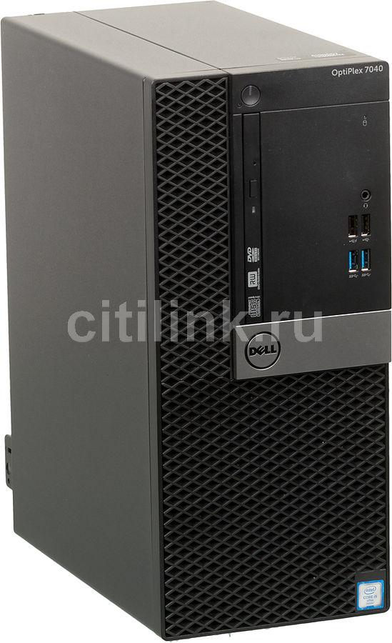 Компьютер  DELL Optiplex 7040,  Intel  Core i5  6500,  DDR4 4Гб, 500Гб,  Intel HD Graphics 530,  DVD-RW,  Windows 7 Professional,  черный и серебристый [7040-2655]