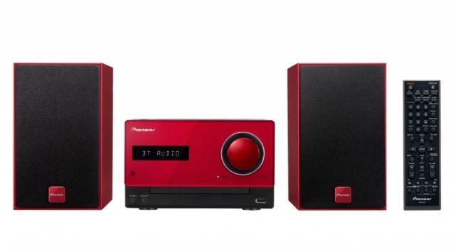 Музыкальный центр PIONEER X-CM35-R,  красный