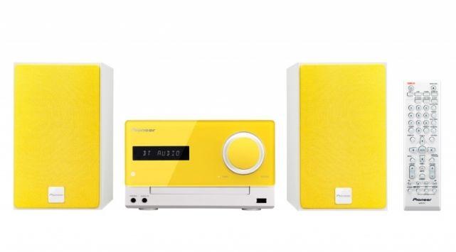 Музыкальный центр PIONEER X-CM35-Y,  желтый