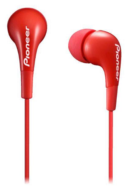 Наушники PIONEER SE-CL502-R, вкладыши,  красный, проводные