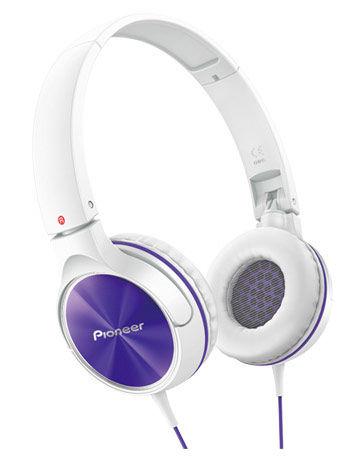 Наушники PIONEER SE-MJ522-V, мониторы,  фиолетовый/белый, проводные