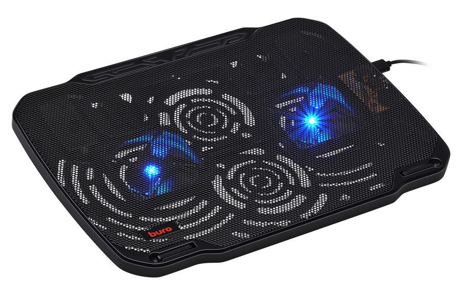 """Подставка для ноутбука Buro BU-LCP156-B208 15.6""""355x260x21мм 2xUSB 2x 80ммFAN 560г металлическая сет"""