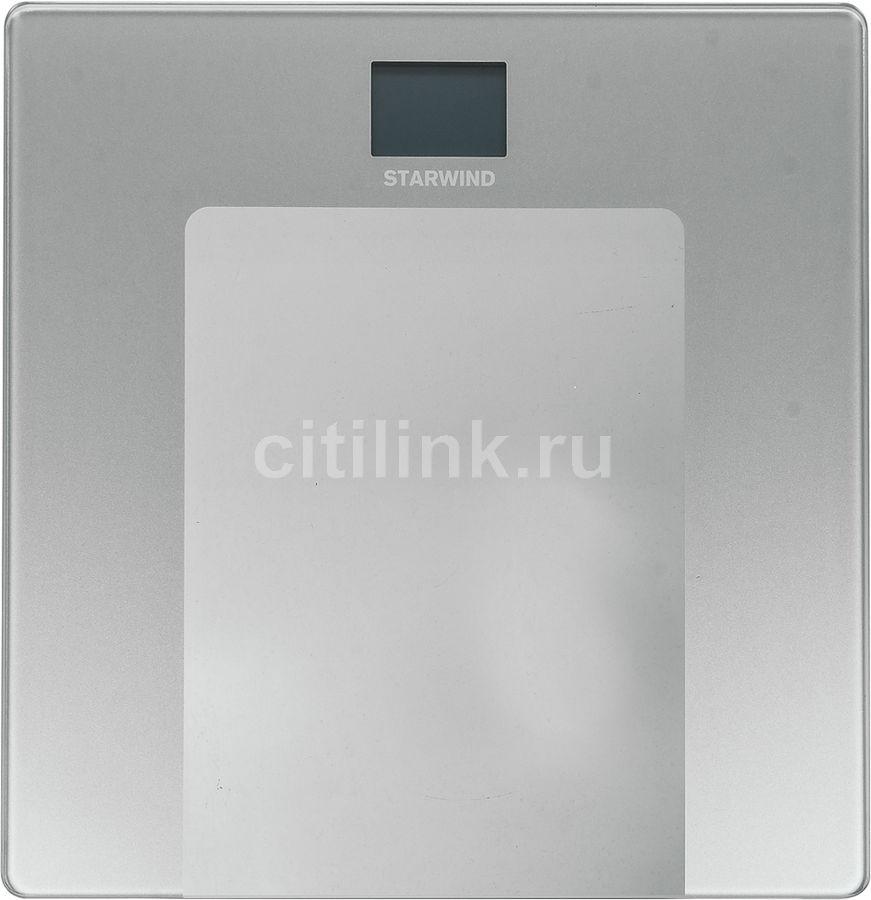 Напольные весы STARWIND SSP2250, до 150кг, цвет: прозрачный