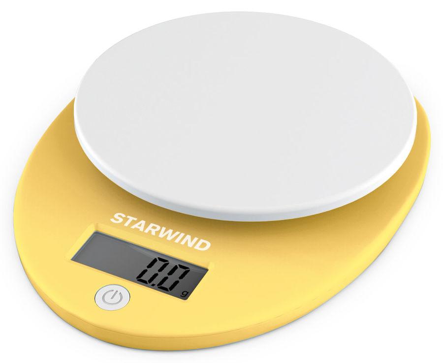 Весы кухонные STARWIND SSK2259,  желтый