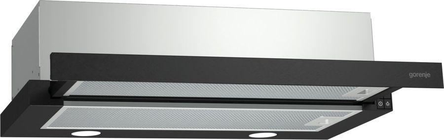 Вытяжка встраиваемая Gorenje BHP623E11B черный управление: кнопочное (1 мотор)