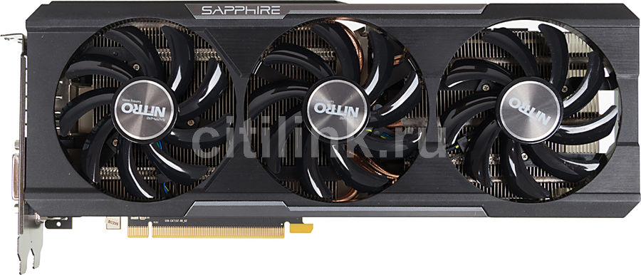 Видеокарта SAPPHIRE AMD Radeon R9 390X , 11241-05-20G NITRO TRI-X OC W/BP  (UEFI)