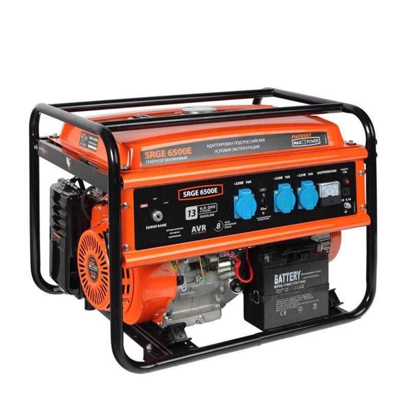 Бензиновый генератор PATRIOT SRGE 6500E,  220 В,  5.5кВт [474103171]