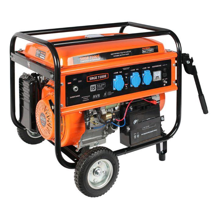 Бензиновый генератор PATRIOT SRGE 7200E,  220 В,  6.5кВт [474103188]