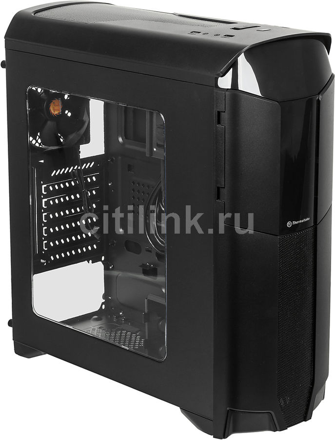 Корпус ATX THERMALTAKE Versa N26, Midi-Tower, без БП, черный
