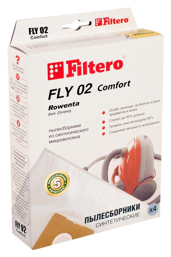 Пылесборники FILTERO FLY 02 Comfort,  пятислойные,  4