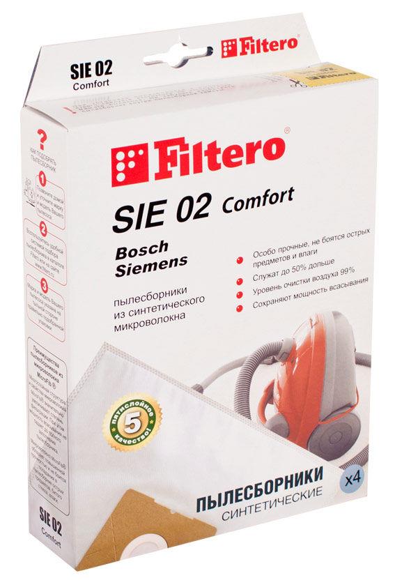 Пылесборники FILTERO SIE 02 Comfort,  пятислойные,  4