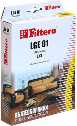 Пылесборники FILTERO LGE 01 Эконом,  бумажные,  4