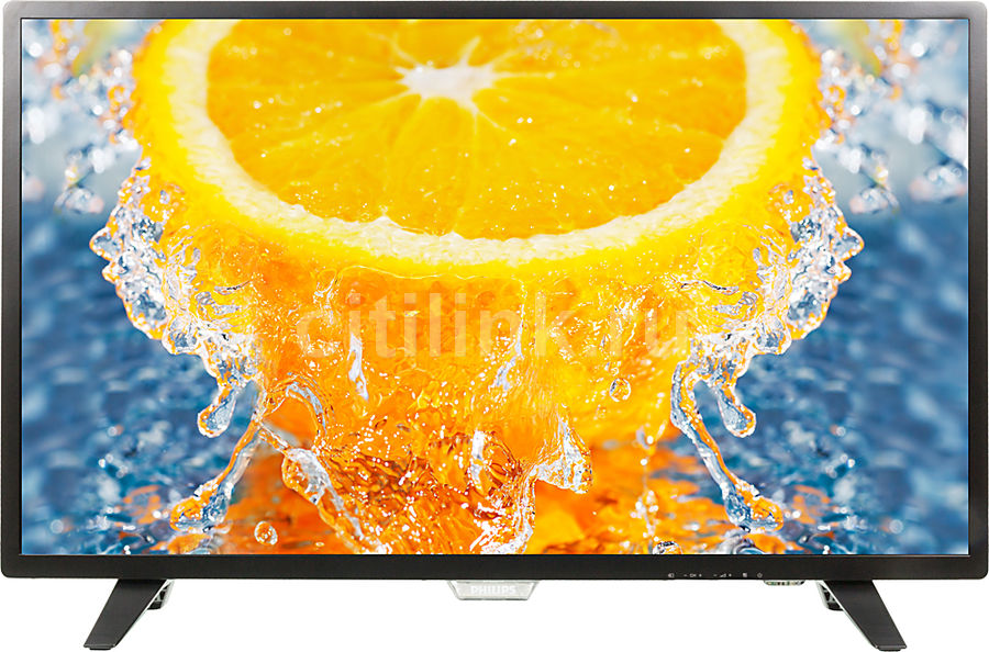 LED телевизор PHILIPS 32PHT4001/60 R, 32, HD READY (720p), черный led телевизор philips 24pht4031 60