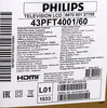 "LED телевизор PHILIPS 43PFT4001/60  ""R"", 43"", FULL HD (1080p),  черный вид 14"