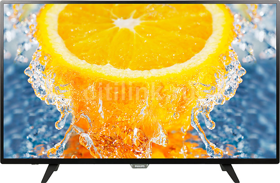 LED телевизор PHILIPS 43PFT4001/60 R, 43, FULL HD (1080p), черный телевизор philips 32pht4100 60 hd pmr 100 черный