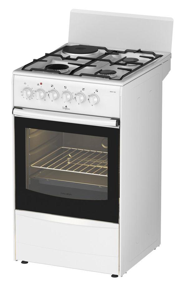 Газовая плита DARINA 1A KM341 322 W,  электрическая духовка,  белый