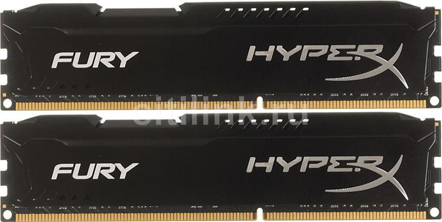 Модуль памяти KINGSTON HyperX FURY Black HX313C9FBK2/16 DDR3 -  2x 8Гб 1333, DIMM,  Ret