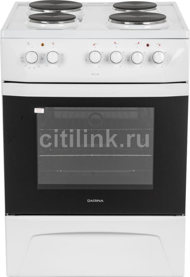 Электрическая плита DARINA 1D EM 141 404 W,  эмаль,  белый