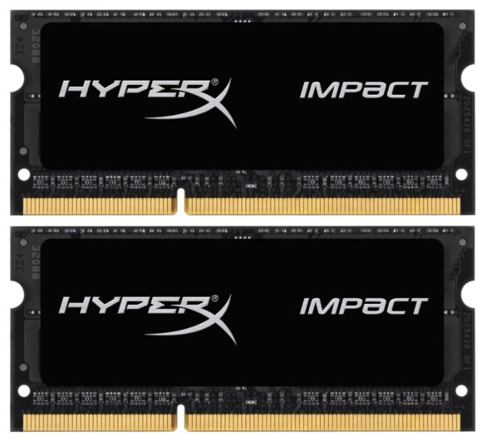 Модуль памяти KINGSTON HyperX Impact HX318LS11IBK2/16 DDR3L -  2x 8Гб 1866, SO-DIMM,  Ret