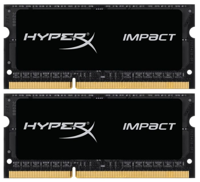 Модуль памяти KINGSTON HyperX Impact HX321LS11IB2K2/16 DDR3L -  2x 8Гб 2133, SO-DIMM,  Ret