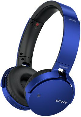 Наушники SONY MDRXB650BTL.E, мониторы,  синий, беспроводные bluetooth