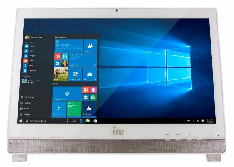 Моноблок IRU Office K2102, Intel Celeron G1830, 4Гб, 500Гб, Intel HD Graphics, Free DOS, белый [366903]