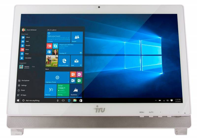 Моноблок IRU Office K2102, Intel Core i3 4170, 4Гб, 500Гб, Intel HD Graphics 4400, DVD-RW, Free DOS, белый [366917]