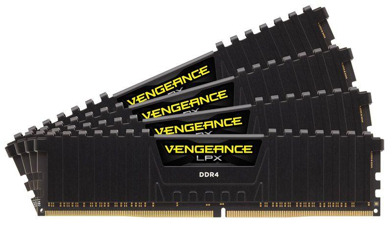 Модуль памяти CORSAIR Vengeance LPX CMK32GX4M4A2400C16 DDR4 -  4x 8Гб 2400, DIMM,  Ret