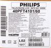 "LED телевизор PHILIPS 40PFT4101/60  ""R"", 40"", FULL HD (1080p),  черный вид 13"