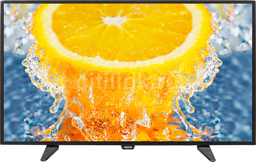 LED телевизор PHILIPS 40PFT4101/60 R, 40, FULL HD (1080p), черный led телевизор philips 24pht4031 60