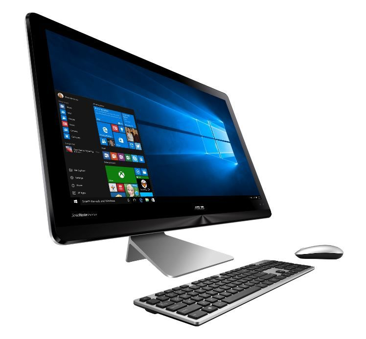Моноблок ASUS ZN240ICGK-RC016X, Intel Core i3 6100U, 8Гб, 1000Гб, nVIDIA GeForce 940MX, DVD-RW, Windows 10, темно-серый и черный [90pt01m2-m00560]