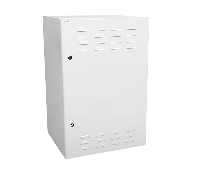 Шкаф настенный ЦМО (ШТВ-Н-9.6.5-4ААА) 9U 600x530мм пер.дв.стал.лист несъемные бок.пан. 57кг серый