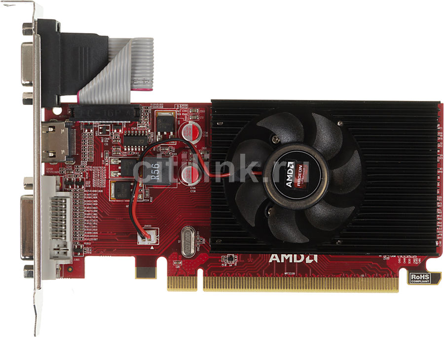 Видеокарта POWERCOLOR Radeon R5 230,  AXR5 230 2GBK3-LHE,  2Гб, DDR3, Low Profile,  oem